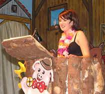 LEIBERSTUNGER SUPERSTARS: Natascha Schultheiß glossierte in der Bütt den Rummel um die BohIen-Show