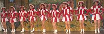 Die neu formierte Leiberstunger Tanz- garde freut sich über einen gelungenen Auftritt