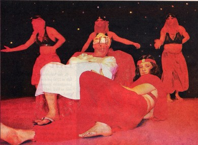 DER SCHEICH KOMMT: Unter diesem Motto präsentierte das Männerballett eine mitreißende Tanznummer.